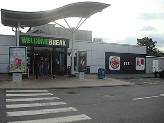 Newport Pagnell services - Southbound entrance