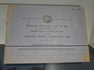 Ngāi Tahu - The Blue Book: recording Ngāi Tahu kaumatua alive in 1848