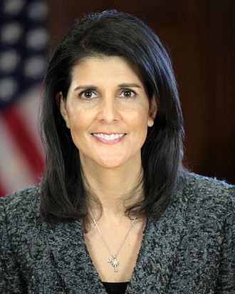 Formation of Donald Trump's Cabinet - Image: Nikki Haley official Transition portrait