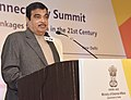 Nitin Gadkari addressing at the ASEAN-India Connectivity Summit, jointly organised by the CII and ASEAN India Centre (AIC) - Powering Digital and Physical Linkages for Asia in the 21st Century, in New Delhi.jpg