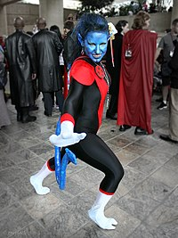 Cosplay de Nocturne avec son costume d'X-Men