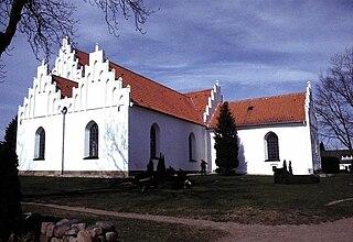 Haarby Village in Southern Denmark, Denmark
