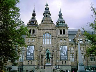 Culture in Stockholm - The Nordic Museum at Djurgården, Neo-renaissance style, built 1907. Architect Isak Gustaf Clason.