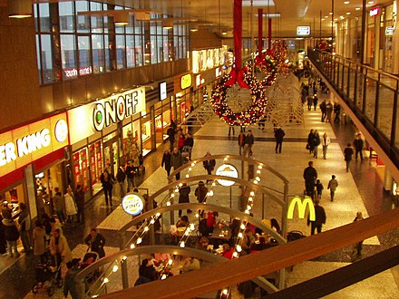 Nordstan is one of the largest shopping malls in northern Europe Nordstan Ost.JPG