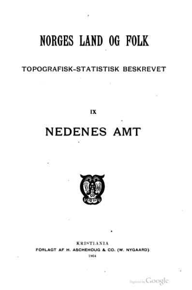 File:Norges land og folk - Nedenes amt 1.djvu
