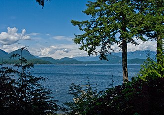 Keats Island (British Columbia) - The view north from Keats Island, including Gambier island.