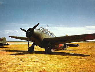 """North American O-47 - A """"red force"""" O-47B during maneuvers in 1941."""
