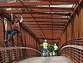 Northampton, Manhan Trail Bridge Installation, September 26, 2010 (5029313061).jpg