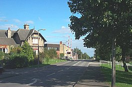 Norton, The level crossing and Old Station House. - geograph.org.uk - 234861.jpg