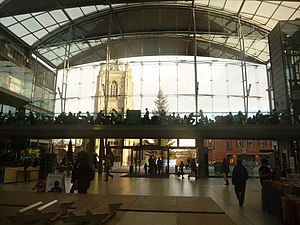 English: Norwich: inside The Forum Looking thr...