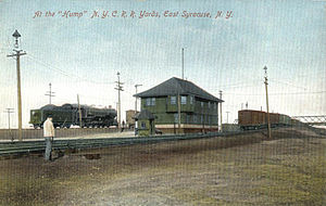 East Syracuse, New York - NYCRR freight yards at the 'hump' (1910).