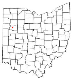 Location of Elida, Ohio