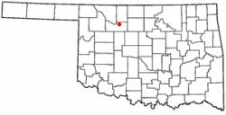 Location of Cleo Springs, Oklahoma