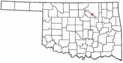 Location of Cleveland, Oklahoma