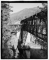 OVERVIEW, VIEW TO SOUTHWEST - Scenic Bridge, Spanning Clark Fork at Old Highway 10, Tarkio, Mineral County, MT HAER MT-122-3.tif