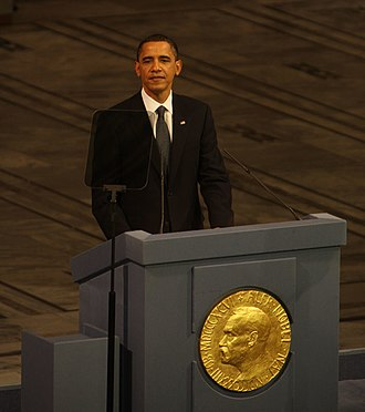 2009 Nobel Peace Prize - Barack Obama presenting his Nobel lecture