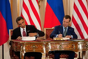 President Barack Obama and President Dmitry Me...