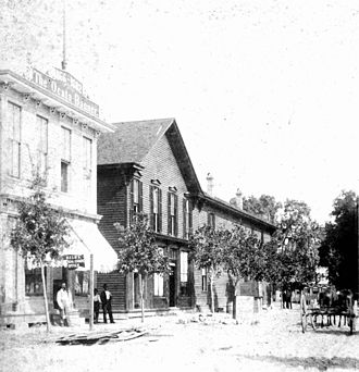 Ocala, Florida - Downtown Ocala in 1883