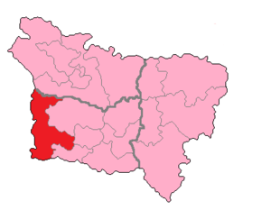 Oise's 2nd constituency - Oise's 2nd Constituency shown within Picardie.