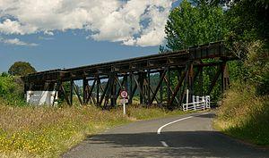 Stratford–Okahukura Line - Okahakura Road Rail Bridge