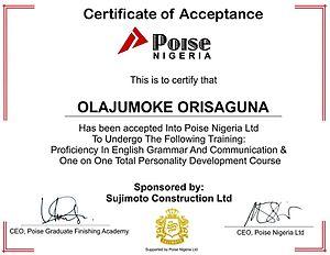 Olajumoke Orisaguna - Image: Olajumokegoesto Poise