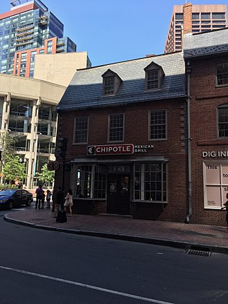 Old Corner Bookstore - The current occupants. Photograph taken in May 2017