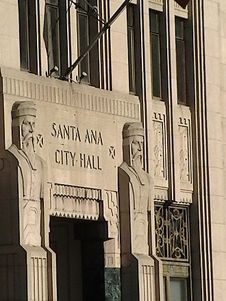Downtown Santa Ana Historic Districts - Image: Old Santa Ana City Hall