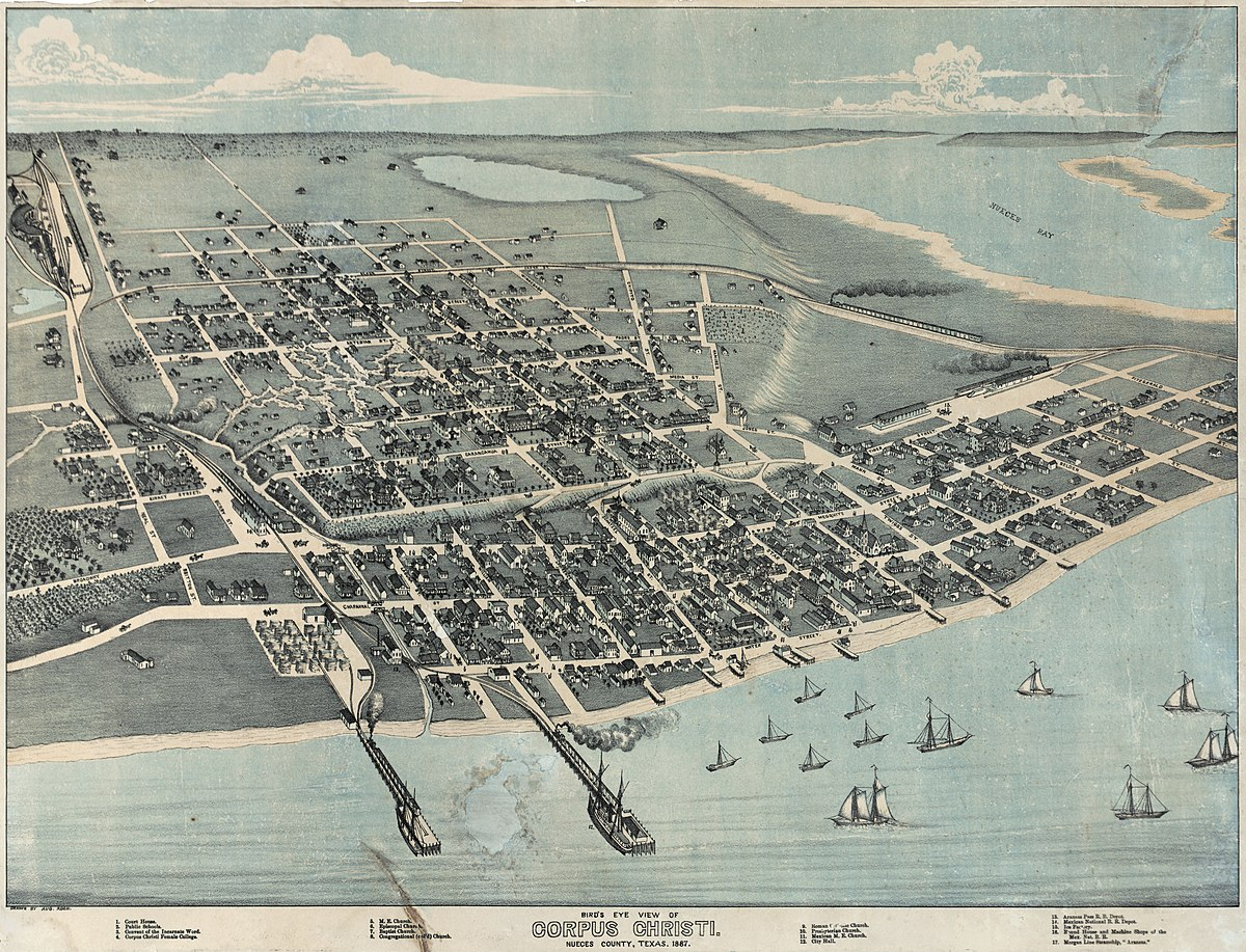 History of Corpus Christi Texas Wikipedia – Corpus Christi Tourist Attractions Map