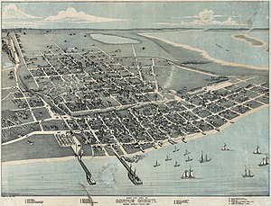Corpus Christi, Texas - Map of Corpus Christi in 1887