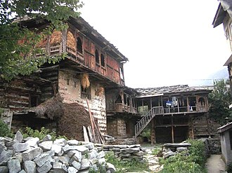 Indian vernacular architecture - Traditional home, Manali