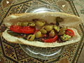 Olive and red Tomato sandwich.JPG