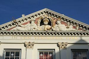 Pieter Xavery - Pediment sculpture of the House In de Vergulde Turk in Leiden, 1673