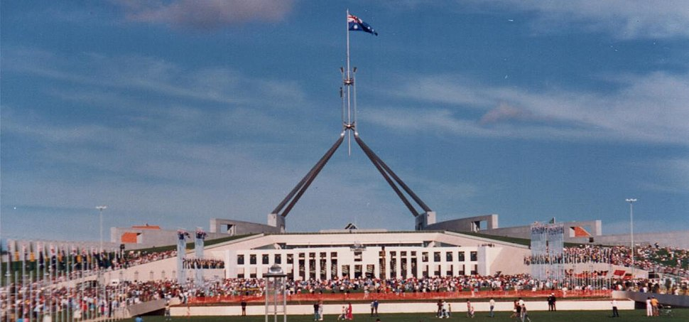 Opening parliament house 1988