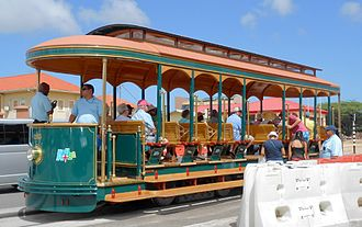 Transport in Aruba - Oranjestad Streetcar in 2014