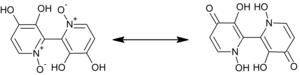Orellanine tautomerization