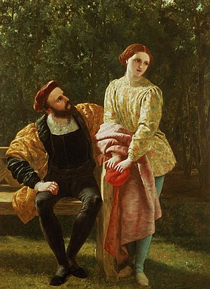 Viola (Twelfth Night) - Frederick Richard Pickersgill painting of Orsino and Viola, mid-1800s