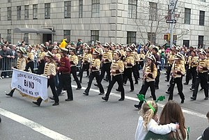 Ossining High School - Band, marching in Manhattan