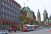 Historic buildings of Elgin Street, looking towards Parliament Hill