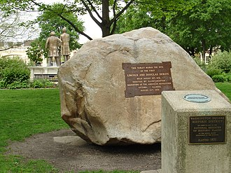 Ottawa, Illinois - The site of the first Lincoln–Douglas debate in Washington Park