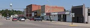 U.S. Route 136 in Nebraska - US 136 and N-46 junction in downtown Oxford