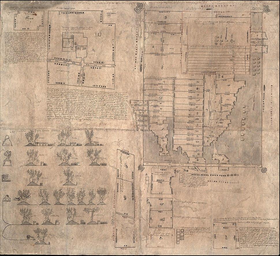 Oztoticpac Lands Aztec 1540 milcocolli tlahuelmantli
