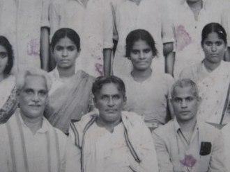 P. Kunhiraman Nair - A group photo taken at Koodali High School.