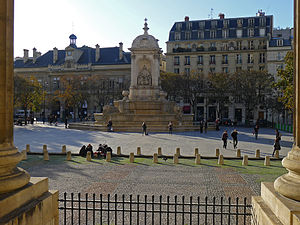 Place Saint-Sulpice - View from the church of Saint-Sulpice of the square and the Fountain of the Four Bishops