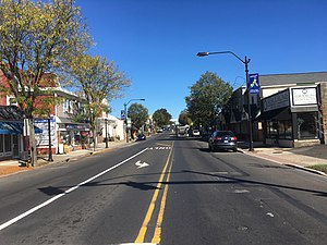 Hatboro, Pennsylvania - York Road northbound in Downtown Hatboro