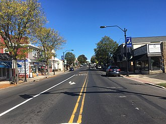Hatboro, Pennsylvania - York Road northbound in Downtown Hatboro