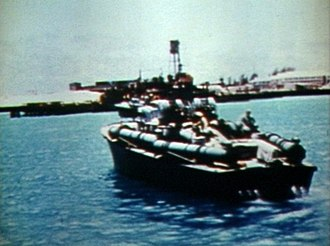 The Battle of Midway (film) - Image: PT boat Midway 1942