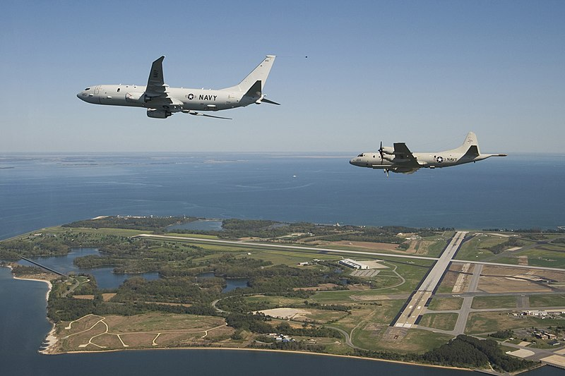 File:P 8 and P 3 over Pax River.jpg