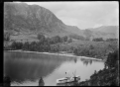 "Paddle steamer ""Mountaineer"" at Elfin Bay jetty on Lake Wakatipu ATLIB 314491.png"