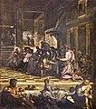 Paintings by Tintoretto in Scuola Grande di San Rocco - Sala superiore - The Last Supper.jpg