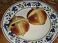 Pair of hot cross buns on a plate.jpg
